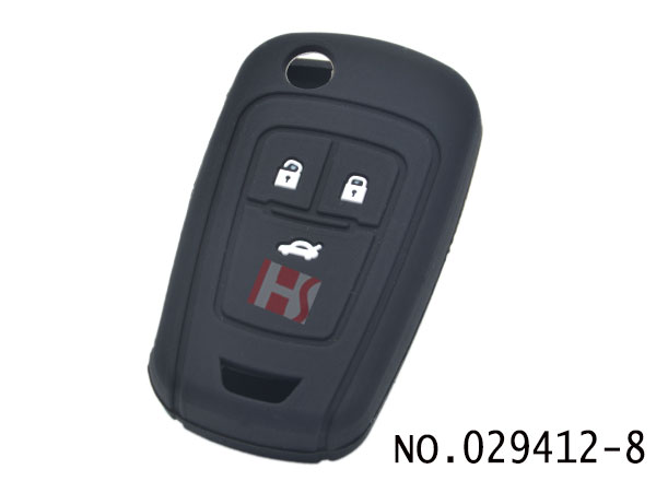 Chevrolet 3-button smart remote control Silicon Rubber bag(black)