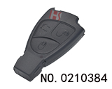 Mercedes-Benz 3 Button smart remote key case (without logo)