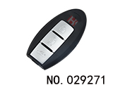 Infiniti 3-button smart remote shell( with solt )
