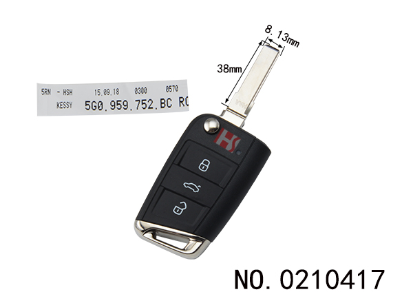 Volkswagen MQB car smart folding remote control key (752BC) HU66