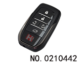 Toyota 5 Button Smart Key Shell(bilateral+tail door) without logo