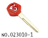 Long Yamaha Motocycle Transponder Key Shell(Red)