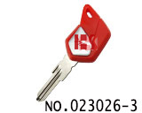 Piaggio motorcycle transponder key shell(red)