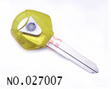 Yamaha motorcycle transponder key shell(Crystal Yellow)