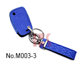 Volkswagen 3-button folding smart key case (Dark Blue)