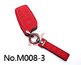 New Toyota 3-Button Smart Key Microfiber Key Case (Red)
